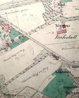Na mapě z roku 1840 je zaznamenána usedlost Prkénka – vpravo dole