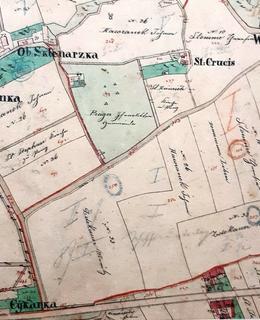 Vendelínka je na této mapě vlevo nahoře
