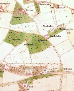 Usedlost Kuchynka je zaznamenána uprostřed