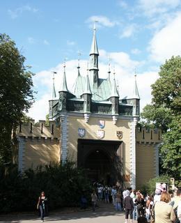 Zmenšená kopie brány Špička na Petříně (Foto M. Polák, 2008)
