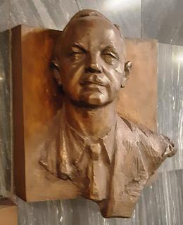 Pamětní busta B. Belady ve stanici metra A - Muzeum (foto D. Broncová)