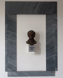 Busta J. E. Purkyně (Foto M. Polák, prosinec 2020)