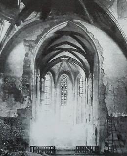 Kostel sv. Václava Na Zderaze před rekonstrukcí v roce 1909 (archiv Milpo)