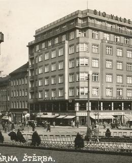 Palác Valdek na dobové pohlednici (Sbírka Romana Kučery)