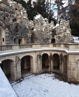 Arkády v zimním hávu. Foto D. Broncová, leden 2021