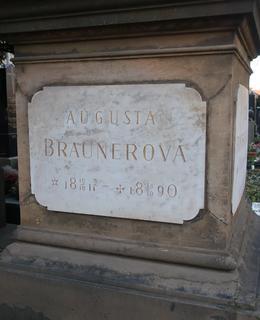 Detail pomníku rodiny Braunerovy (Foto M. Polák, 2020)
