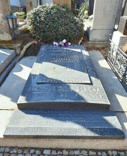 Hrobka rodiny Fričů na Vyšehradském hřbitově, odd.3-24. Foto D. Broncová, březen 2021
