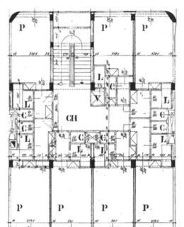Římská 2312/44, plán. Zdroj: Archiv ÚMČ Praha 2