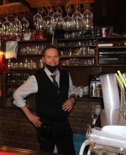Majitel restaurace pan René Soukup (Foto M. Polák, 2021)
