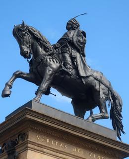 B. Schnirch: Jezdecká socha Jiřího z Poděbrad v Poděbradech (Foto M. Polák, 2021)