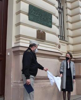 PD T.Vokes a W.Greig, odhalení. Foto: MČ Praha 2
