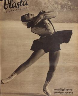 Ája Vrzáňová, časopis Vlasta, 1947. Zdroj: Wikipedia