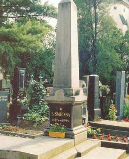 Původní obelisk na skladatelově hrobě (archiv)