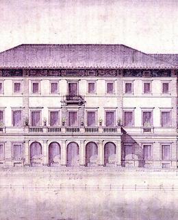 Gröbeho vila, plán, sever, 1870