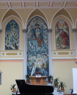 Malby v evangelickém kostele na Vinohradech (Foto M. Polák, 2021)