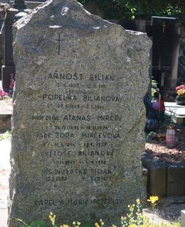 Náhrobek rodiny Biliánových (Foto M. Polák, červen 2021)