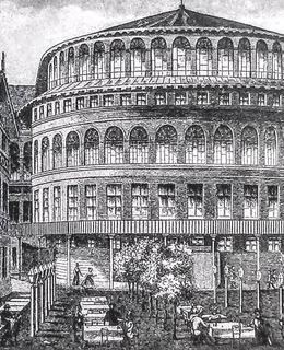 Novoměstské divadlo se zahradní restaurací, rok 1885