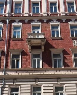 Detail fasády (Foto M. Polák, 2021)