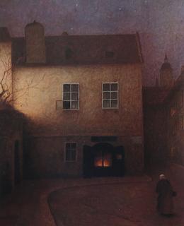 Pražská ulička v noci (1899-1902)