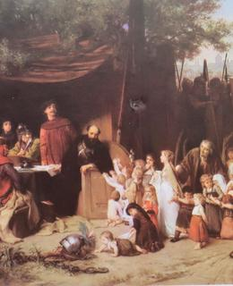 Husité před Naumberkem, olej na plátně, 1875