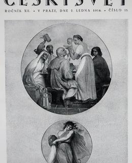 Mánesova výzdoba orloje na obálceČeského světa (Archiv MILPO)