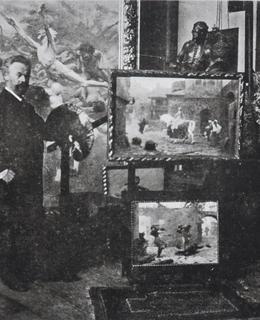 Profeor Ženíšek ve svém ateliéru (Světozor)