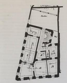 Půdorys přízemí (Archiv MČ Praha 2)
