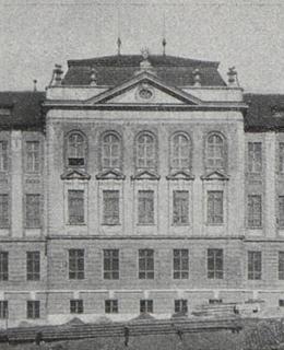 Albertov, průčelí Fyzikálního ústavu, 1907