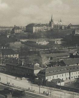 Albertov, pohled z Vyšehradu, kol. 1923