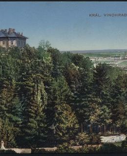 Gröbeho vila od severozápadu, kol. 1905, MMP
