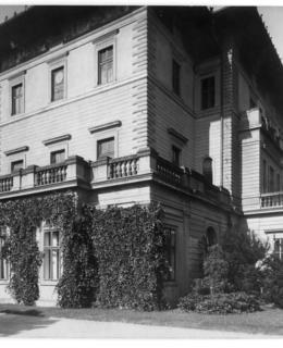 Jihozápadní nároží Gröbeho vily, 1931, AMP