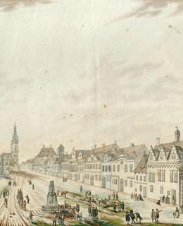 Část východní strany Dobytčího trhu, 1785, MMP