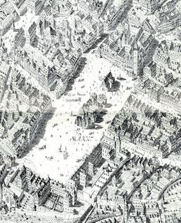 Dobytčí trh, výřez, J. D. Huber, 1769