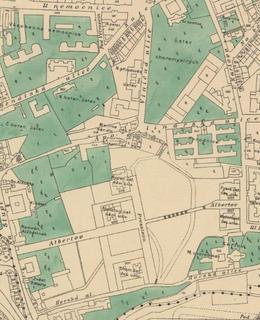 Mapa 1909-1914, Albertov. Zdroj: Web GIS Praha 2