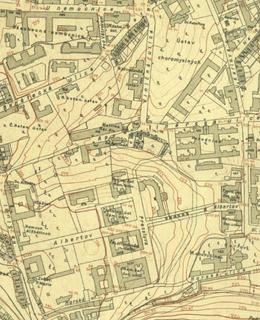 Mapa 1920-1924, Albertov. Zdroj: Web GIS Praha 2