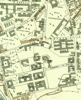 Mapa 1934, Albertov. Zdroj: Web GIS Praha 2