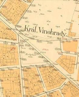 Mapa 1889, náměstí Míru