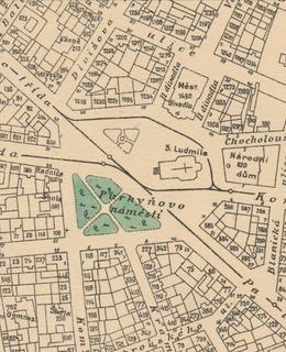 Mapa 1909-1914, náměstí Míru