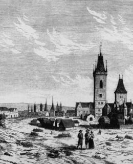 Dobytčí trh s radnicí, 16. stol