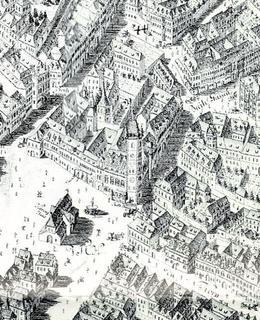 Severní část Dobytčího trhu, výřez z Huberova plánu 1769