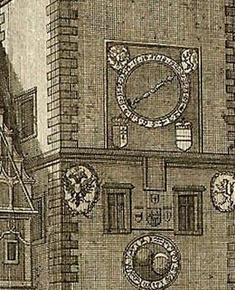 Orloj na Novoměstské radnici detail, 1943