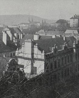 Albertov, pohled přes Chemický ústav, 1907