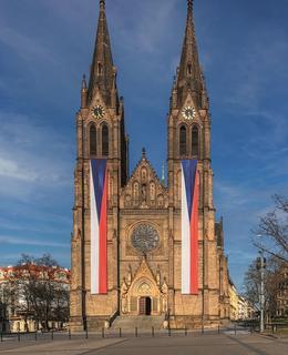 Kostel se státními vlajkami, 1. pol. 2020