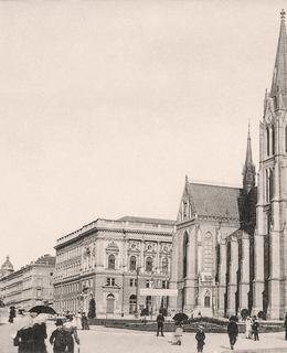 Národní dům a kostel sv. Ludmily, kol 1905