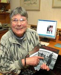 Jana Osbornová, botanička, členka Vltavanu, napsala knížku o Podskalí. Zdroj: archiv B. Kovaříkové