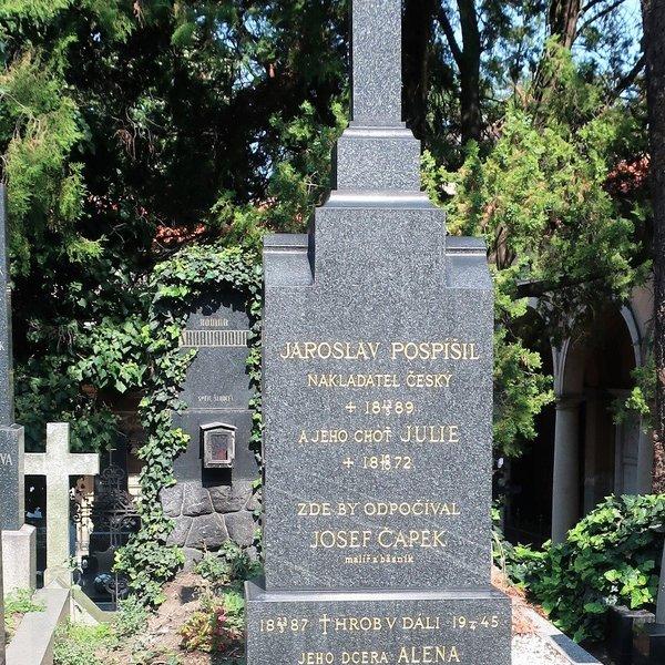 Hrob v dáli Josefa Čapka (Foto M. Polák, 2020)