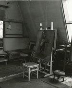 Ateliér V. Strettiho posléze A. Zábranského. Zdroj: archiv B. Kovaříkové