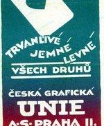 Česká grafická unie, reklama na karty. Zdroj: archiv B. Kovaříkové