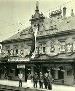 Vyšehradské nádraží 30. léta. Zdroj: archiv B. Kovaříkové
