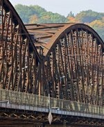 Železniční most. Zdroj: archiv B. Kovaříkové